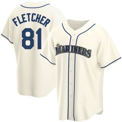 Aaron Fletcher Seattle Mariners Youth Replica Alternate Jersey - Cream