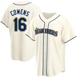 Al Cowens Seattle Mariners Men's Replica Alternate Jersey - Cream