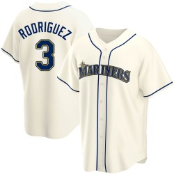 Alex Rodriguez Seattle Mariners Men's Replica Alternate Jersey - Cream