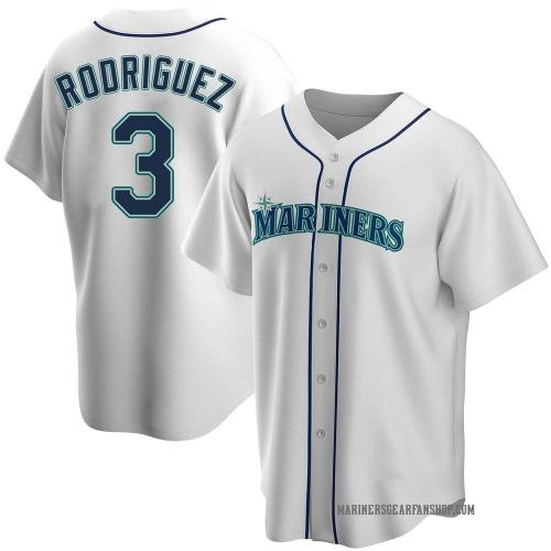 Alex Rodriguez Seattle Mariners Men's Replica Home Jersey - White