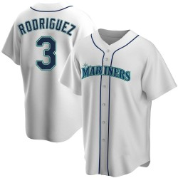 Alex Rodriguez Seattle Mariners Youth Replica Home Jersey - White