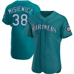 Anthony Misiewicz Seattle Mariners Men's Authentic Alternate Jersey - Aqua