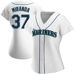 Ariel Miranda Seattle Mariners Women's Authentic Home Jersey - White
