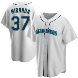 Ariel Miranda Seattle Mariners Youth Replica Home Jersey - White