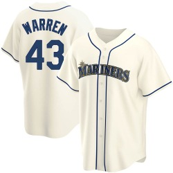 Arthur Warren Seattle Mariners Men's Replica Alternate Jersey - Cream