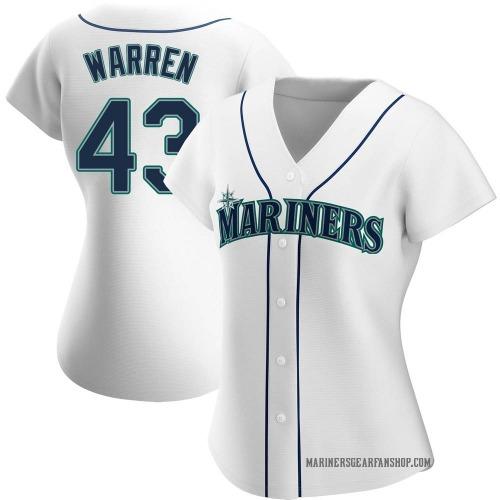 Arthur Warren Seattle Mariners Women's Authentic Home Jersey - White