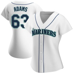 Austin Adams Seattle Mariners Women's Authentic Home Jersey - White