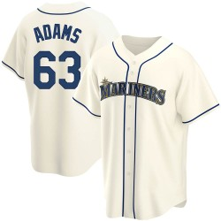 Austin Adams Seattle Mariners Youth Replica Alternate Jersey - Cream