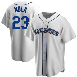 Austin Nola Seattle Mariners Men's Replica Home Cooperstown Collection Jersey - White