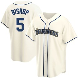 Braden Bishop Seattle Mariners Men's Replica Alternate Jersey - Cream