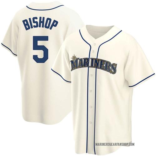 Braden Bishop Seattle Mariners Men's Replica Alternate Jersey - Cream