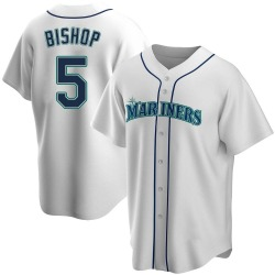 Braden Bishop Seattle Mariners Men's Replica Home Jersey - White