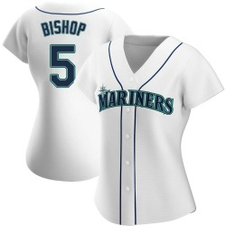 Braden Bishop Seattle Mariners Women's Authentic Home Jersey - White