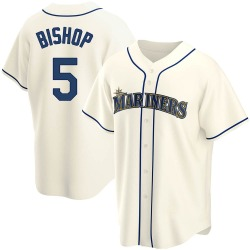 Braden Bishop Seattle Mariners Youth Replica Alternate Jersey - Cream