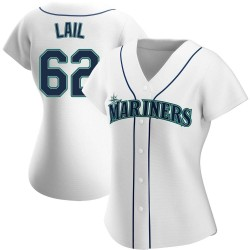 Brady Lail Seattle Mariners Women's Authentic Home Jersey - White