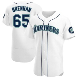 Brandon Brennan Seattle Mariners Men's Authentic Home Jersey - White