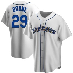 Bret Boone Seattle Mariners Men's Replica Home Cooperstown Collection Jersey - White