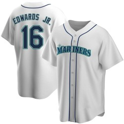 Carl Edwards Jr. Seattle Mariners Men's Replica Home Jersey - White