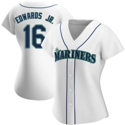 Carl Edwards Jr. Seattle Mariners Women's Authentic Home Jersey - White