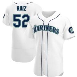Carlos Ruiz Seattle Mariners Men's Authentic Home Jersey - White