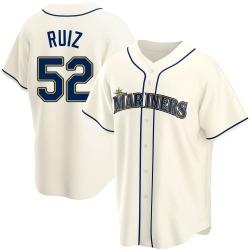 Carlos Ruiz Seattle Mariners Men's Replica Alternate Jersey - Cream