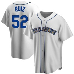 Carlos Ruiz Seattle Mariners Men's Replica Home Cooperstown Collection Jersey - White