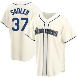 Casey Sadler Seattle Mariners Men's Replica Alternate Jersey - Cream