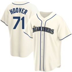 Connor Hoover Seattle Mariners Men's Replica Alternate Jersey - Cream