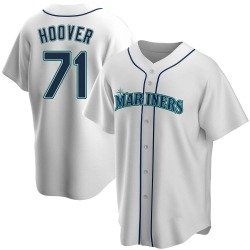 Connor Hoover Seattle Mariners Men's Replica Home Jersey - White