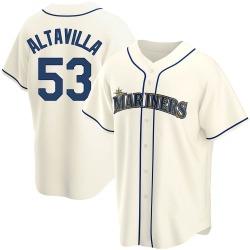 Dan Altavilla Seattle Mariners Youth Replica Alternate Jersey - Cream