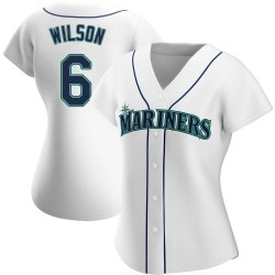 Dan Wilson Seattle Mariners Women's Authentic Home Jersey - White
