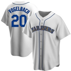 Daniel Vogelbach Seattle Mariners Men's Replica Home Cooperstown Collection Jersey - White