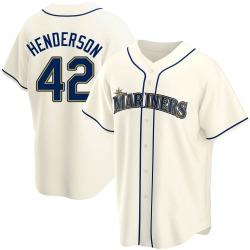 Dave Henderson Seattle Mariners Men's Replica Alternate Jersey - Cream