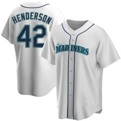 Dave Henderson Seattle Mariners Men's Replica Home Jersey - White