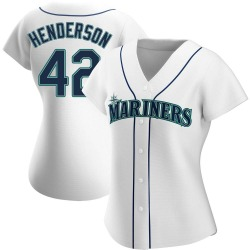 Dave Henderson Seattle Mariners Women's Authentic Home Jersey - White