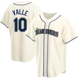 Dave Valle Seattle Mariners Men's Replica Alternate Jersey - Cream