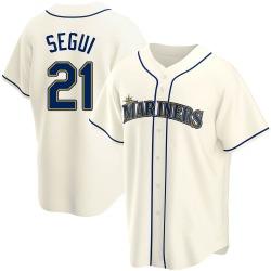 David Segui Seattle Mariners Youth Replica Alternate Jersey - Cream
