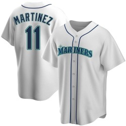 Edgar Martinez Seattle Mariners Men's Replica Home Jersey - White