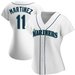 Edgar Martinez Seattle Mariners Women's Authentic Home Jersey - White