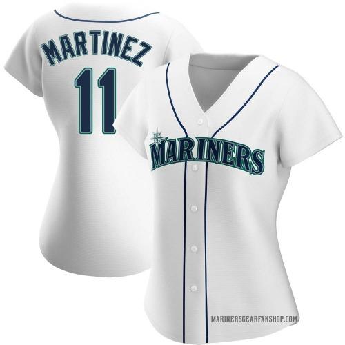 Edgar Martinez Seattle Mariners Women's Replica Home Jersey - White