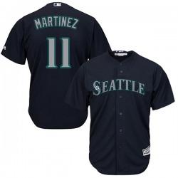 Edgar Martinez Seattle Mariners Youth Replica Cool Base Alternate Majestic Jersey - Navy