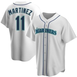 Edgar Martinez Seattle Mariners Youth Replica Home Jersey - White