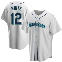 Evan White Seattle Mariners Men's Replica Home Jersey - White