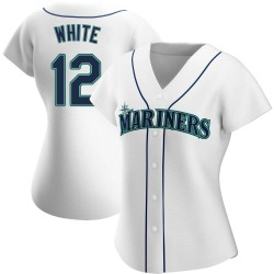 Evan White Seattle Mariners Women's Authentic Home Jersey - White