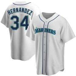 Felix Hernandez Seattle Mariners Men's Replica Home Jersey - White