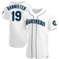 Floyd Bannister Seattle Mariners Men's Authentic Home Jersey - White