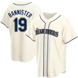 Floyd Bannister Seattle Mariners Men's Replica Alternate Jersey - Cream