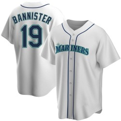 Floyd Bannister Seattle Mariners Men's Replica Home Jersey - White