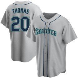 Gorman Thomas Seattle Mariners Youth Replica Road Jersey - Gray