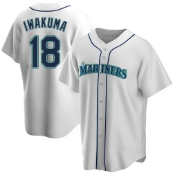 Hisashi Iwakuma Seattle Mariners Men's Replica Home Jersey - White